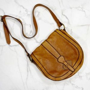 Fossil Vintage Leather Reissue Crossbody Bag